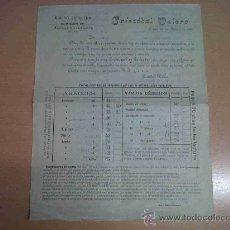 Facturas antiguas: ANTIGUA FACTURA MOLINO ARROCERO ALMACEN DE ALUBIAS Y CACAHUETE CRISTOBAL VALERO JATIVA VALENCIA 1915. Lote 25715029