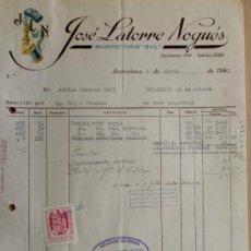 Alte Rechnungen - FACTURA. BARCELONA. ABRIL 1951. JOSE LATORRE NOGUES. MANUFACTURAS BYL. - 26688877