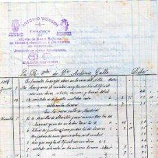 Facturas antiguas: FACTURA. ANTONIO WÜNSCH. FABRICANTE DE OBJETOS DE ZINC Y HOJALATA. SANTANDER. TIMBRE MOVIL 1887. Lote 28014409