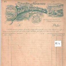 Facturas antiguas: FACTURA ANTIGUA - HARINAS GABARRO PUIGDELLIVOL - BARCELONA -( FAC-4). Lote 28083076
