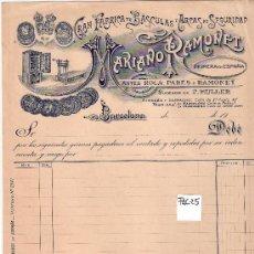 Facturas antiguas: FACTURA ANTIGUA - BASCULAS Y ARCAS DE SEGURIDAD MARIANO RAMONET - BARCELONA -( FAC-25). Lote 28083376