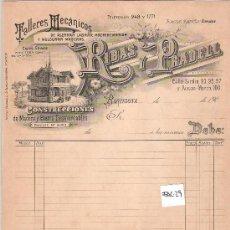 Facturas antiguas: FACTURA ANTIGUA - CONSTRUCCIONES Y MADERAS RIBAS Y PRADELL - BARCELONA -( FAC-29). Lote 28083426
