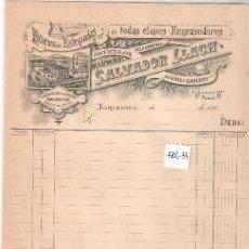 Facturas antiguas: FACTURA ANTIGUA - ESTOPADAS SALVADOR LLACH - BARCELONA -( FAC-33). Lote 28083471