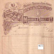 Facturas antiguas: FACTURA ANTIGUA - HILADOS Y TORCIDOS MARQUES, CARALT Y CIA. - BARCELONA -( FAC-42). Lote 28083668