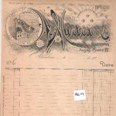 Facturas antiguas: FACTURA ANTIGUA - LIENZOS A. MURTRA Y CIA. - VILASAR DE MAR .BARCELONA -( FAC-44). Lote 28083718