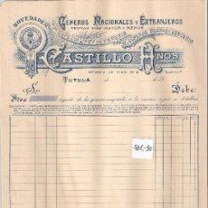 Facturas antiguas: FACTURA ANTIGUA - PAÑERIA CASTILLO HNOS. - TUDELA -( FAC-30). Lote 28084161