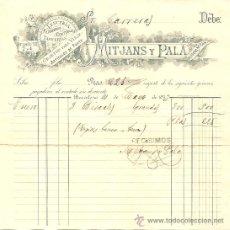 Facturas antiguas: RECIBO MITJANS Y PALÁ LENCERÍA, ALFOMBRAS ... OBJETOS DE VIAJE - BARCELONA 1893. Lote 28417873