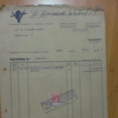 Facturas antiguas: FACTURA. ESPAÑA. VALLADOLID. JULIO 1952. LA HERRAMIENTA INDUSTRIAL S.L.. Lote 28724277