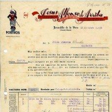 Facturas antiguas: JARANDILLA DE LA VERA (CÁCERES).- FTRA. COMERCIAL 12.12.1938.. Lote 29039792