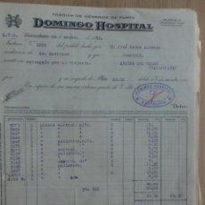 Facturas antiguas: FACTURA. BARCELONA. MARZO 1931. DOMINGO HOSPITAL. FABRICA DE GENEROS DE PUNTO.. Lote 29717170