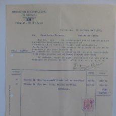Alte Rechnungen - FACTURA. BARCELONA. MAYO 1951. MANUFACTURAS DE CONFECCIONES EL GAVILAN. - 29719246