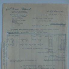 Facturas antiguas: FACTURA. BARCELONA. MAYO 1947. ANTONIO RICART. FABRICA DE GENEROS DE PUNTO.. Lote 29721733