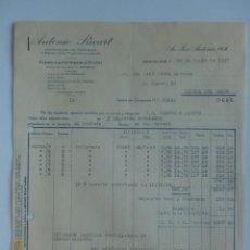 Facturas antiguas: FACTURA. BARCELONA. JUNIO 1947. ANTONIO RICART. FABRICA DE GENEROS DE PUNTO.. Lote 29721740
