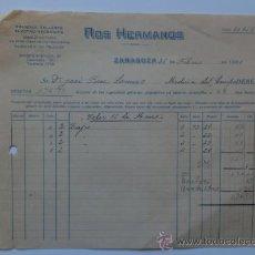 Facturas antiguas: FACTURA. ZARAGOZA. FEBRERO 1931. ROS HERMANOS. GRANDES TALLERES ELECTRO MECANICOS.. Lote 29809477