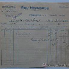 Facturas antiguas: FACTURA. ZARAGOZA. NOVIEMBRE 1931. ROS HERMANOS. GRANDES TALLERES ELECTRO MECANICOS.. Lote 29809492