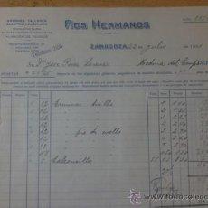 Facturas antiguas: FACTURA. ZARAGOZA. JULIO 1931. ROS HERMANOS. TALLERES ELECTRO-MECANICOS.. Lote 29884900