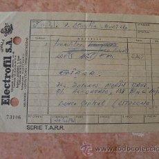 Facturas antiguas: FACTURA ELECTROFIL, AISLANTES, CONDUCTORES,ELECTRICIDAD, SEVILLA, AÑO 1970. Lote 31022946