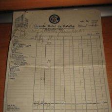 Facturas antiguas: ANTIGUA FACTURA GRANDE HOTEL DA BATALHA 1951. Lote 31543902