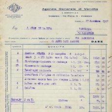 Facturas antiguas: FACTURA AGENZIA GENERALE DI VENDITA 1922. Lote 31658830
