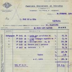 Facturas antiguas: FACTURA AGENZIA GENERALE DI VENDITA 1922. Lote 31658891