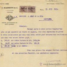 Facturas antiguas: FACTURA C.SCARFIOTTI & C. 1923. Lote 31658987