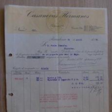 Facturas antiguas: FACTURA. BARCELONA. ABRIL 1944. CASANOVA HERMANOS.. Lote 31771250
