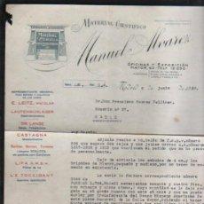 Facturas antiguas: FACTURA DE MATERIAL CIENTIFICO MANUEL ALVAREZ. MADRID, JUNIO 1940. Lote 33441832