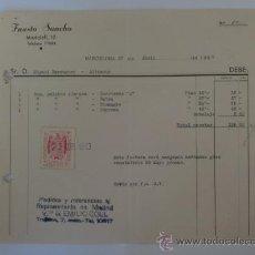 Facturas antiguas: FACTURA. BARCELONA. ABRIL 1944. FAUSTO SANCHO.. Lote 33525673