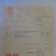Facturas antiguas: FACTURA. BARCELONA. JULIO 1957. JUGUETES MINIATURAS GOULA.. Lote 33526284