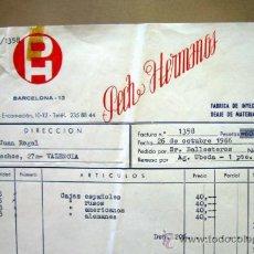 Facturas antiguas: FACTURA JUGUETERIA Y ALBARAN, PECH HERMANOS, BARCELONA, 1966, CAJAS DE ESPAÑOLES, FIGURAS PLASTICO. Lote 34342989