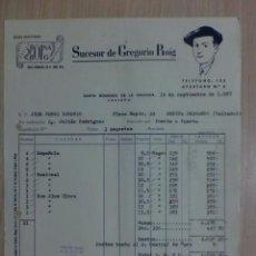Fatture antiche: FACTURA DE SANTO DOMINGO DE LA CALZADA - LOGROÑO 1957. SUCESOR DE GREGORIO ROIG. Lote 34622284