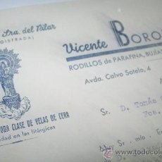Facturas antiguas: CERERÍA DE NTRA., SRA. DEL PILAR-FABRICACIÓN DE TODA CLASE DE VELAS DE CERA-ALCOY 23/10/1946. Lote 34686225