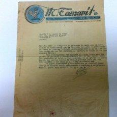 Facturas antiguas: AÑO 1957.- ITC. TAMARIT. ( MADRID ). FACTURA CON MEMBRETE. Lote 35220408