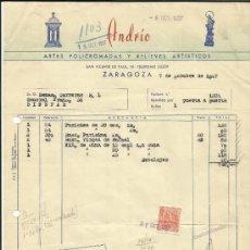 Facturas antiguas: FACTURA DE ARDRÍO,. ZARAGOZA. 1957. Lote 36905619