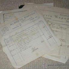 Facturas antiguas: LOTE DE SIETE FACTURAS DE UN ALBAÑIL, DESDE 1925 A 1934, CON PRECIOS. SANTANDER. Lote 37144663