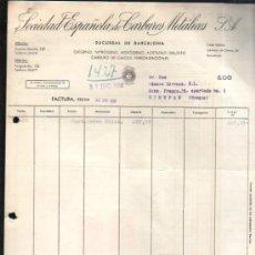 Facturas antiguas: FACTURA DE SOCIEDAD ESPAÑOLA CARBUROS METALICOS S.A. BARCELONA. 1956. Lote 37216091