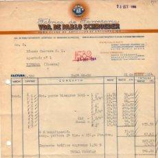 Facturas antiguas: FACTURA DE VDA. DE PABLO SCHROEDER. FABRICA DE FERRETERIA. HERNANI (GUIPUZCOA) 1964. Lote 37228783