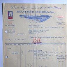 Faturas antigas: FACTURA / FABRICA ESPAÑOLA DE AZUL ULTRAMAR / FRANCISCO NUBIOLA / BARCELONA 1964. Lote 37263966