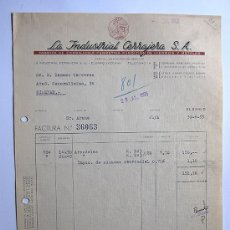 Factures anciennes: FACTURA / FABRICA DE CERRAJERIA / LA INDUSTRIAL CERRAJERA / ELORRIO 1955 / VIZCAYA. Lote 37264788