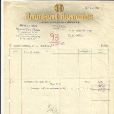 Facturas antiguas: FACTURA DE ARAMBERRI HERMANOS. FÁBRICA DE HERRAMIENTAS. EIBAR. GIPÚZCOA. 1965. Lote 37334204