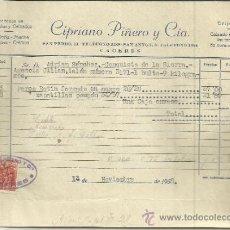 Facturas antiguas: FACTURA DE CIPRIANO PIÑERO Y Cª. ALMACÉN DE ALPARGATAS Y CALZADOS. CÁCERES. 1958. Lote 37579271