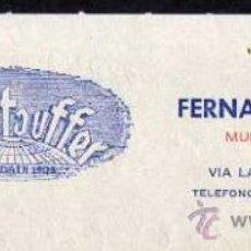 Facturas antiguas: FACTURA - MEMBRETE FERNANDO GIL STAUFFER - MUDANZAS - BARCELONA 1977 . Lote 38914096