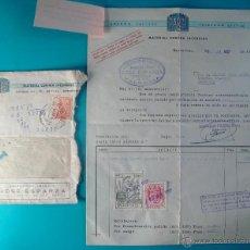 Facturas antiguas: DOCUMENTOS DE INDUSTRIAS PARSI S.L. MATERIAL CONTRA INCENDIOS, BARCELONA 1957. Lote 40532972