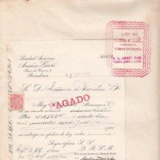 Facturas antiguas: FACTURA A TRANVIAS DE BARCELONA- DE SA ARNÚS - GARI DE BARCELONA 1935. Lote 41040162
