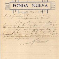 Facturas antiguas: FACTURA. FONDA NUEVA. REAL DE LA JARA. SEVILLA. FIRMA . Lote 41663842