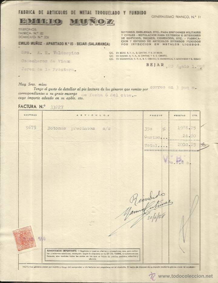 bd31aca77118 factura de emilio muñoz. fábrica de artículos d - Comprar Facturas ...