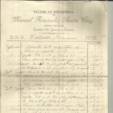 Facturas antiguas: FACTURA DE MANUEL FERNÁNDEZ SANTA CRUZ. TALLER DE ESPARTERÍA. JEREZ DE LA FRONTERA. CÁDIZ. 1900. Lote 42328284