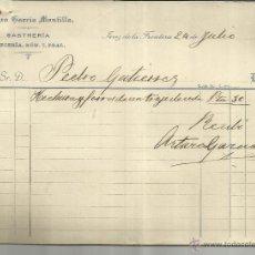 Facturas antiguas: FACTURA DE ARTURO GARCÍA MONTILLA. SASTRERÍA. JEREZ DE LA FRONTERA. CÁDIZ. 1915. Lote 42475634