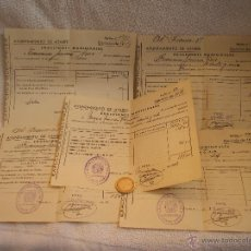 Facturas antiguas: LOTE DE 5 RECIBOS DEL AYUNTAMIENTO DE ATARFE(GRANADA)AÑOS 1948-49-50.EXACCIONES MUNICIPALES.. Lote 42681233