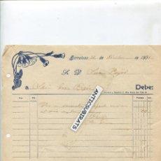 Facturas antiguas: FACTURA BARCELONA AÑO 1931. Lote 42714831